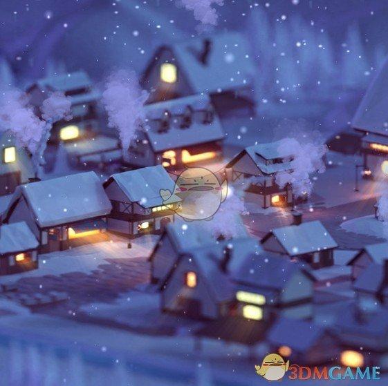 《Wallpaper Engine》迷你圣诞村庄3D动态壁纸
