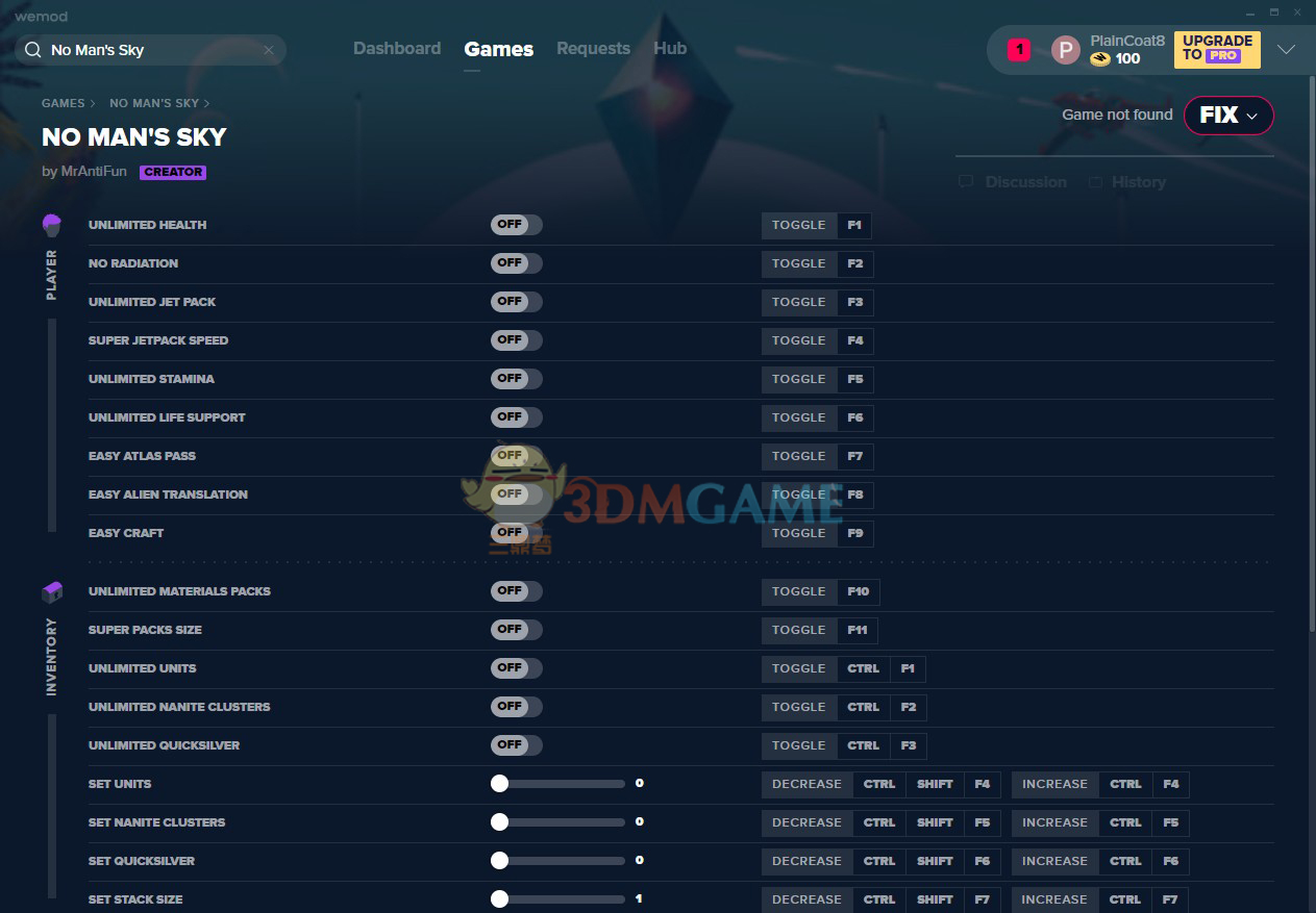 《无人深空》v2.2二十六项修改器[MrAntiFun][Steam]
