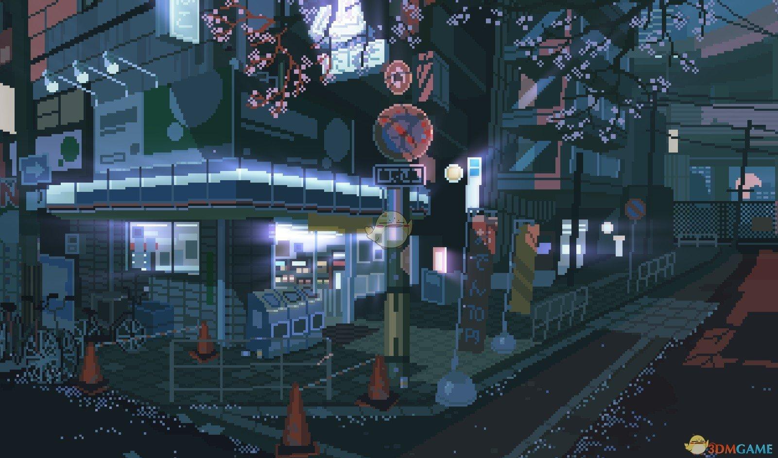 《Wallpaper Engine》像素风 - 日本街道的一角动态壁纸