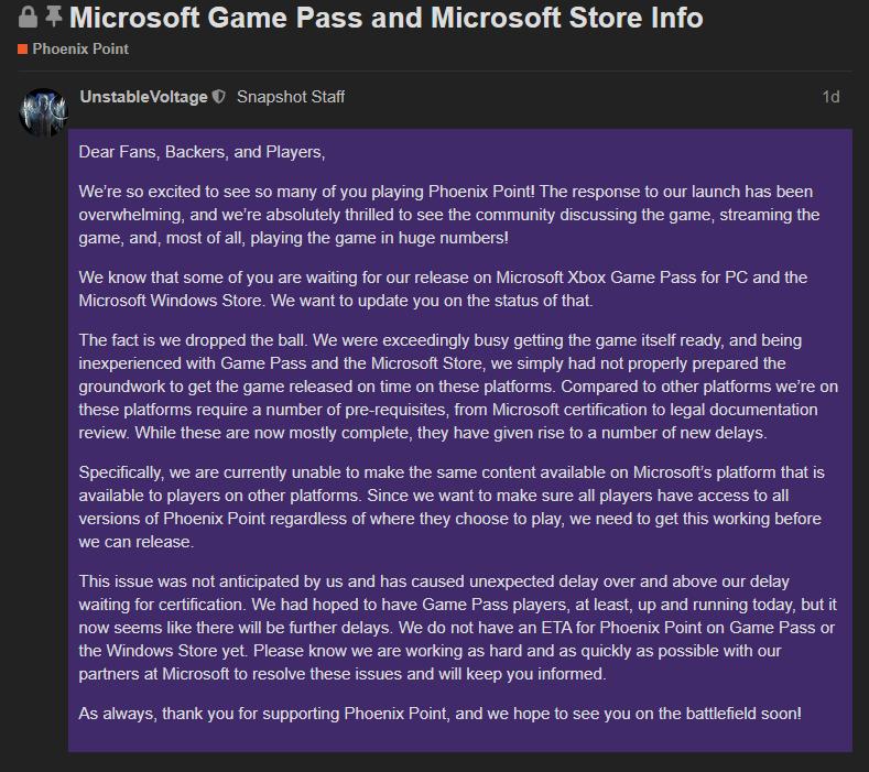 《凤凰点》将延后加入XGP 开发商直言他们有失误