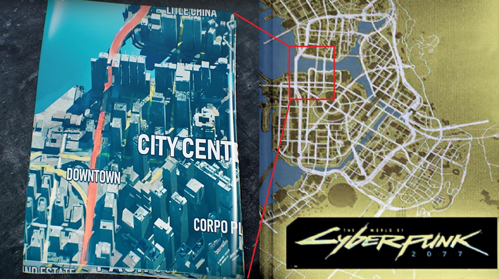 《赛博朋克2077》世界地图似乎要比想象的更大