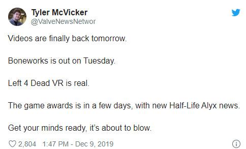 传V社正在开发《求生之路》新作 遗憾仍然是VR游戏