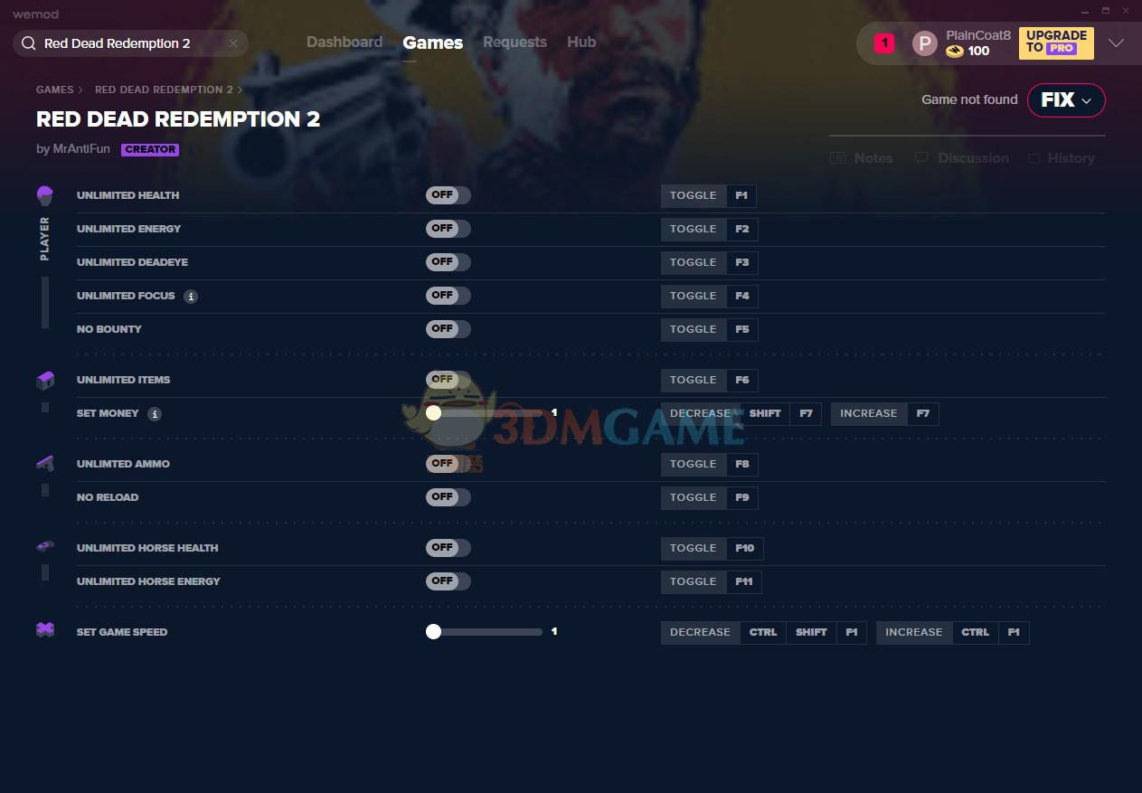 《荒野大镖客2》v1355.18十二项修改器[MrAntiFun][Steam]