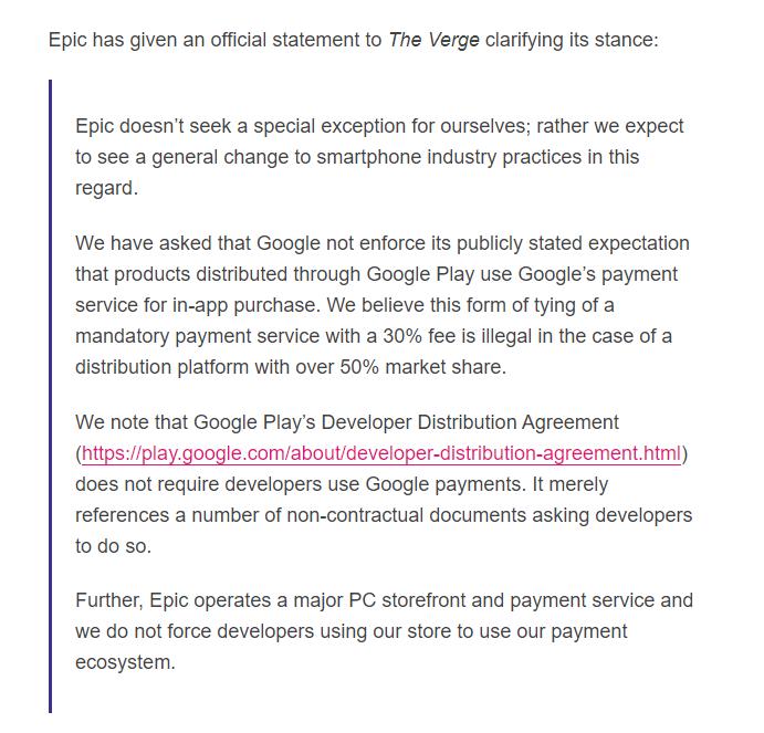 想上架《堡垒之夜 》Epic因Play商店30%提成和谷歌大打出手
