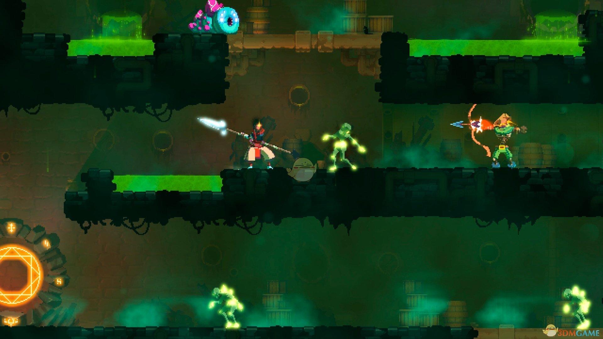 《死亡细胞》绿流1细胞难度国王之手打法介绍