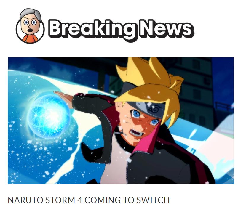 《火影终极风暴4博人传》将移植Switch 发售日期曝光!