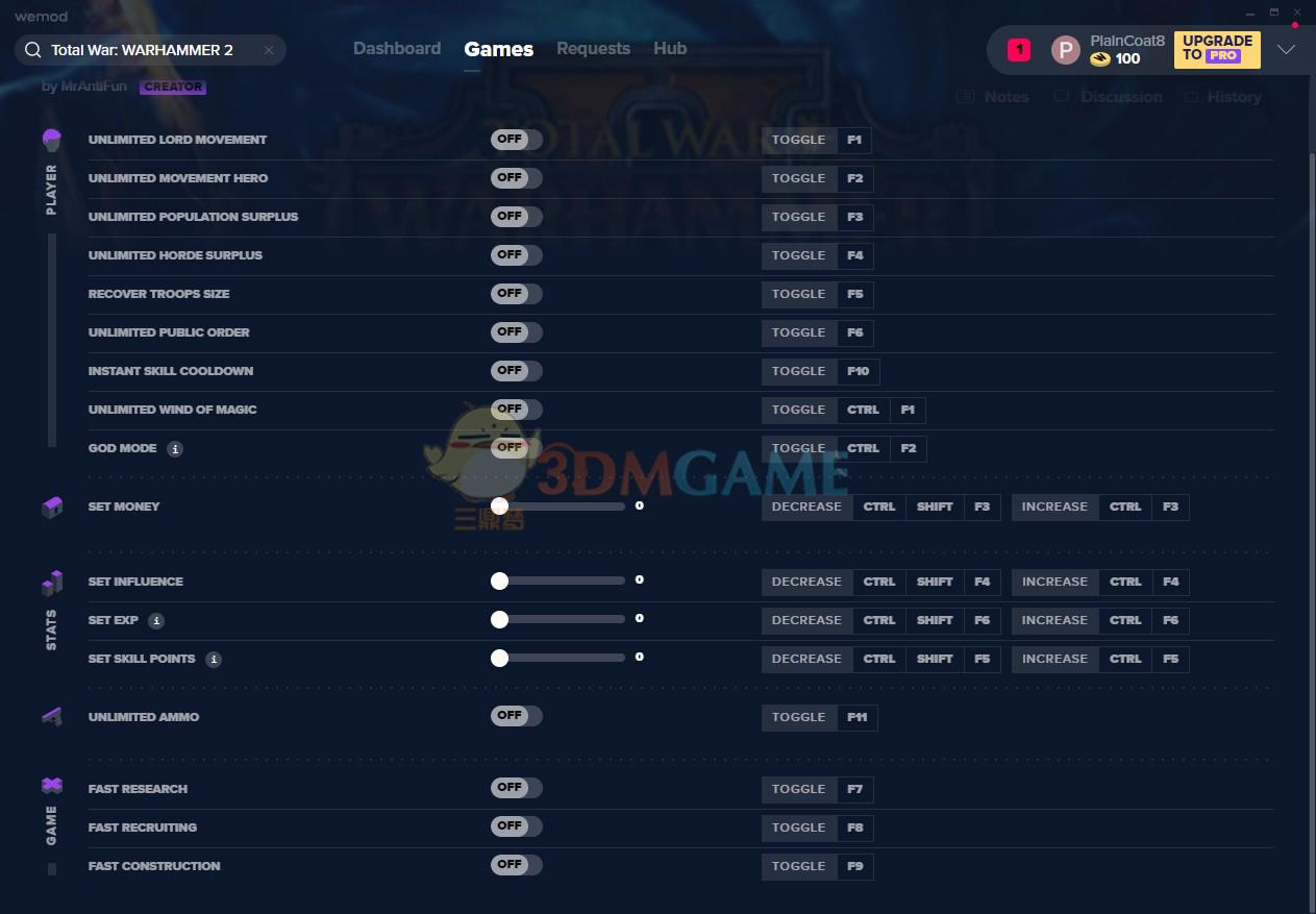 《全面战争:战锤2》v1.9十七项修改器[MrAntiFun]