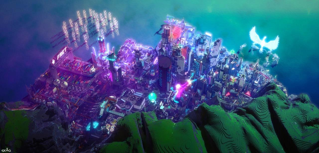 大神用《我的世界》打造赛博朋克世界 让人叹服