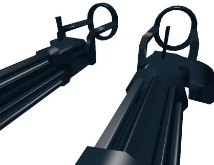《罗布乐思》双持加特林武器模型