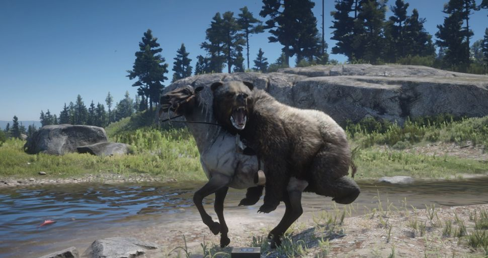 《荒野大镖客2》新增恶搞Mod:熊还可以骑马