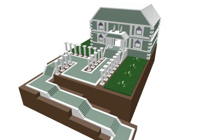 《罗布乐思》山上豪宅模型