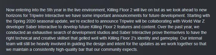 《僵尸世界大戰》開發商將參與《殺戮空間2》的后續開發