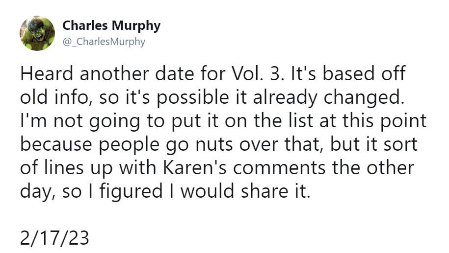 爆料:《银河护卫队3》将于2023年2月17日上映 属MCU第5阶段