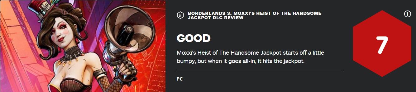 《无主之地3》战役DLC首弹获IGN7分 越玩越好玩