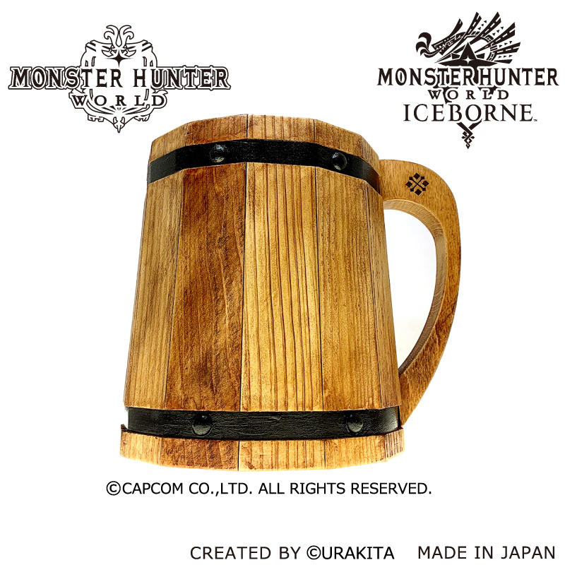 干了这桶酒Aibo!卡普空推出《怪物猎人:世界》木质啤酒杯