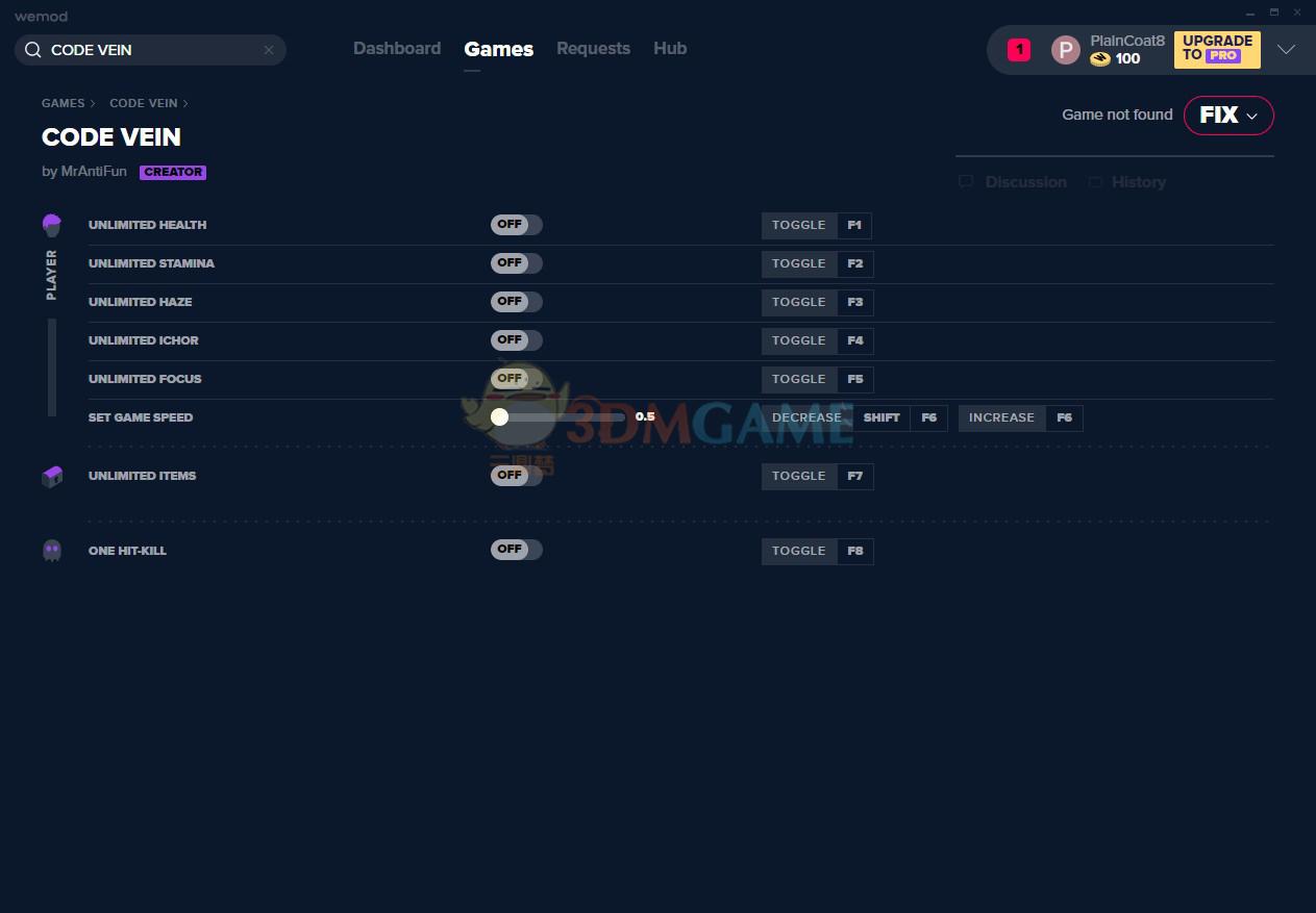 《噬血代码》v2019.12.20八项修改器[MrAntiFun]