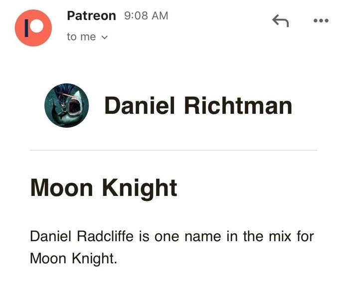 变身漫威《月光骑士》!曝哈利·波特扮演者丹尼尔或将主演