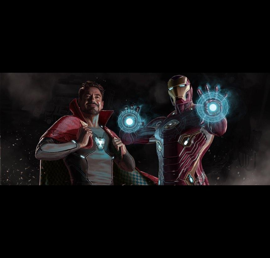 《复仇者联盟4》全新原始概念图曝光 钢铁侠和奇异博士互换战服