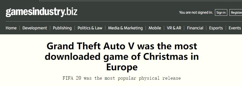 到底是谁还在买!《GTA5》问鼎圣诞假期欧洲等区下载榜首