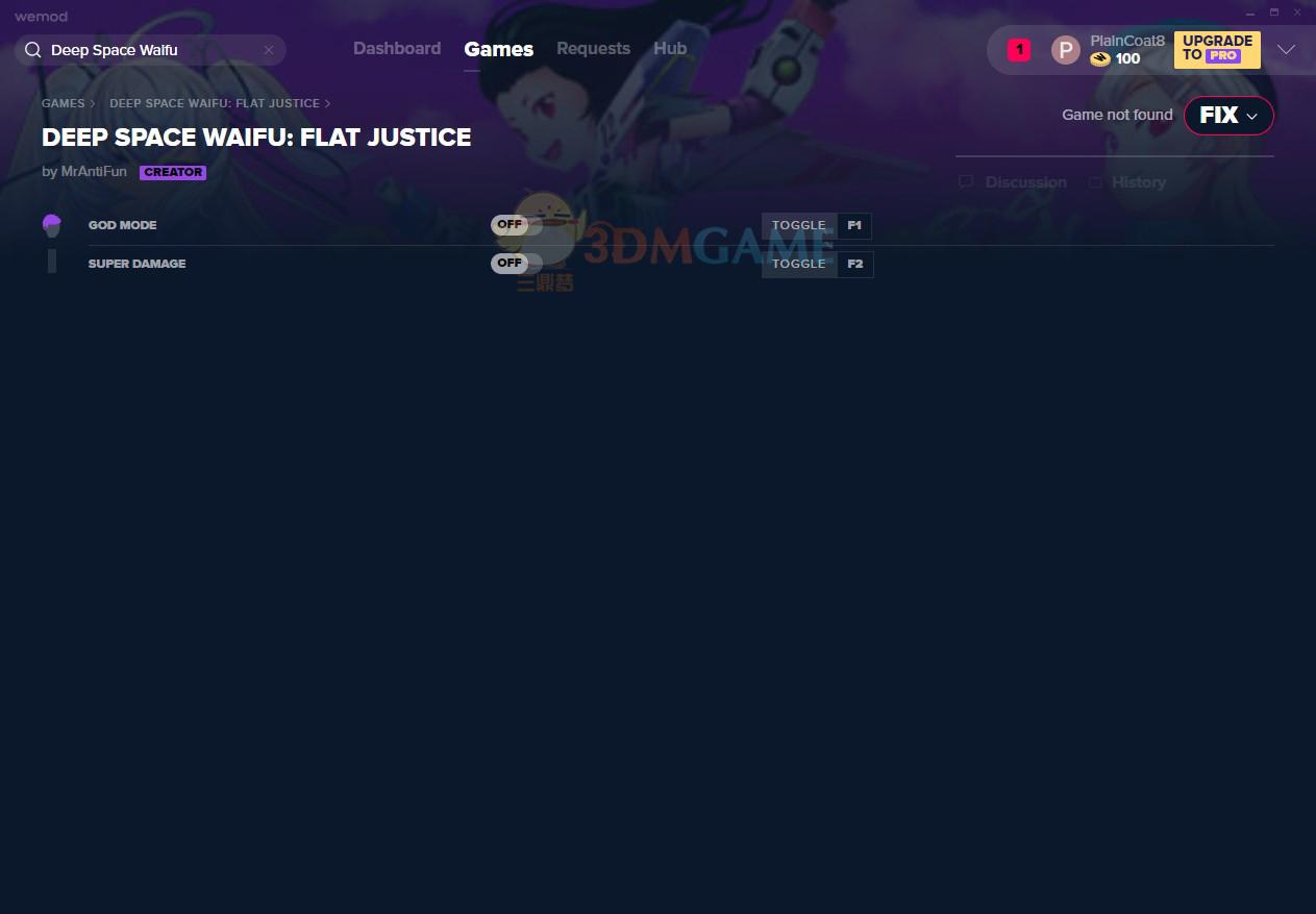 《深空激射:Flat Justice》v2020.01.02无敌超级伤害修改器[MrAntiFun]