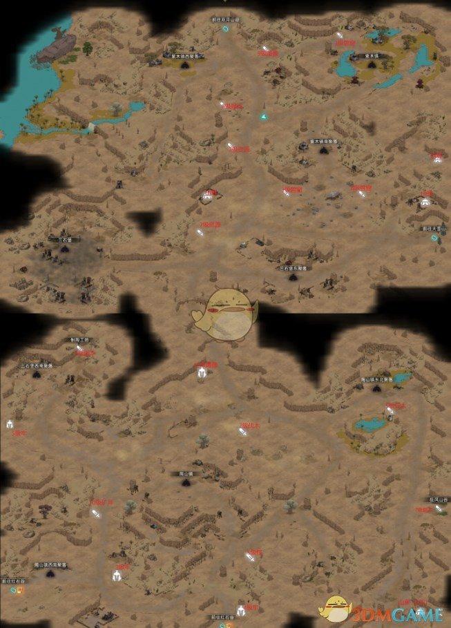 《部落与弯刀》风哭岩全资源地图一览