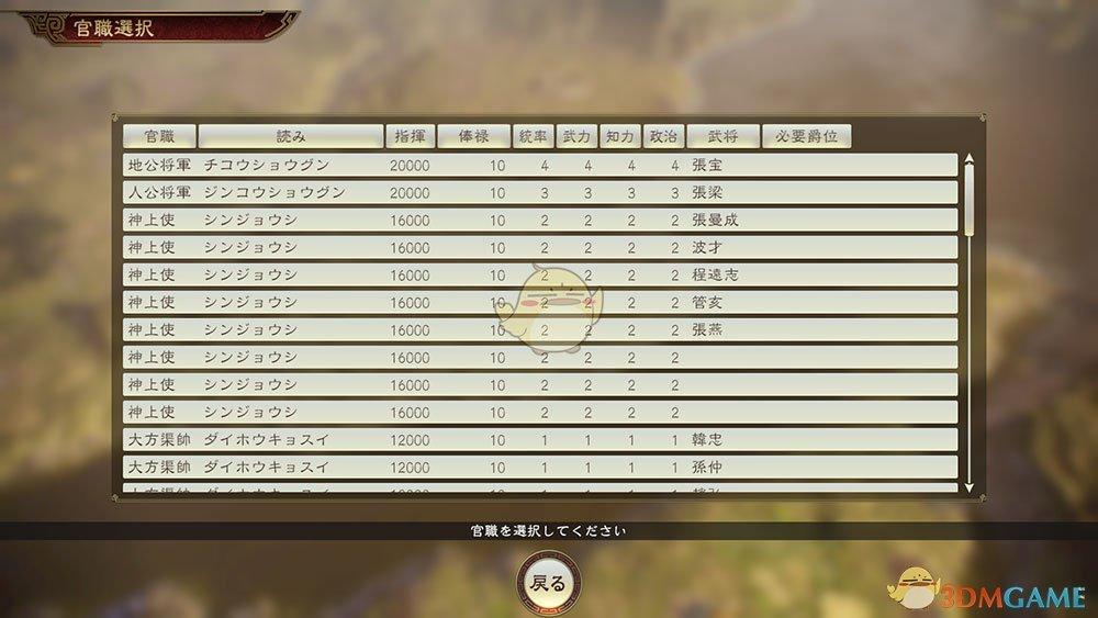 《三国志14》爵位与官职系统介绍