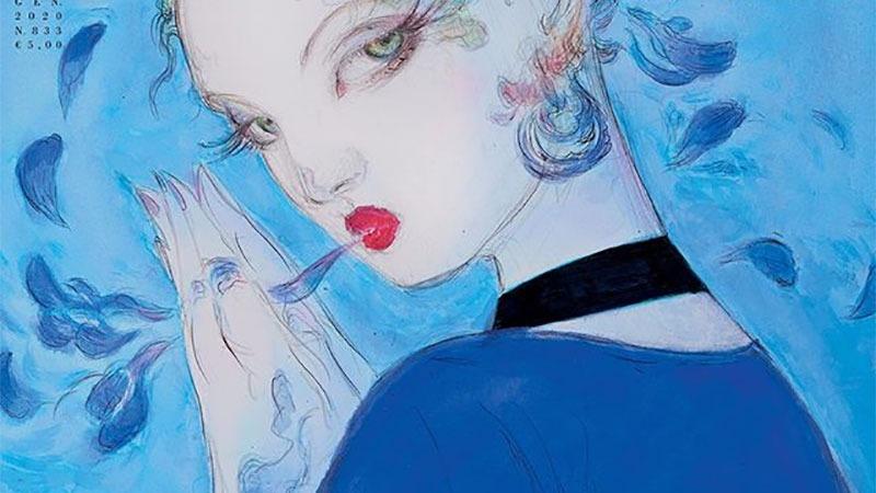 FF系列美术设计师天野喜孝为Vogue杂志绘制封面