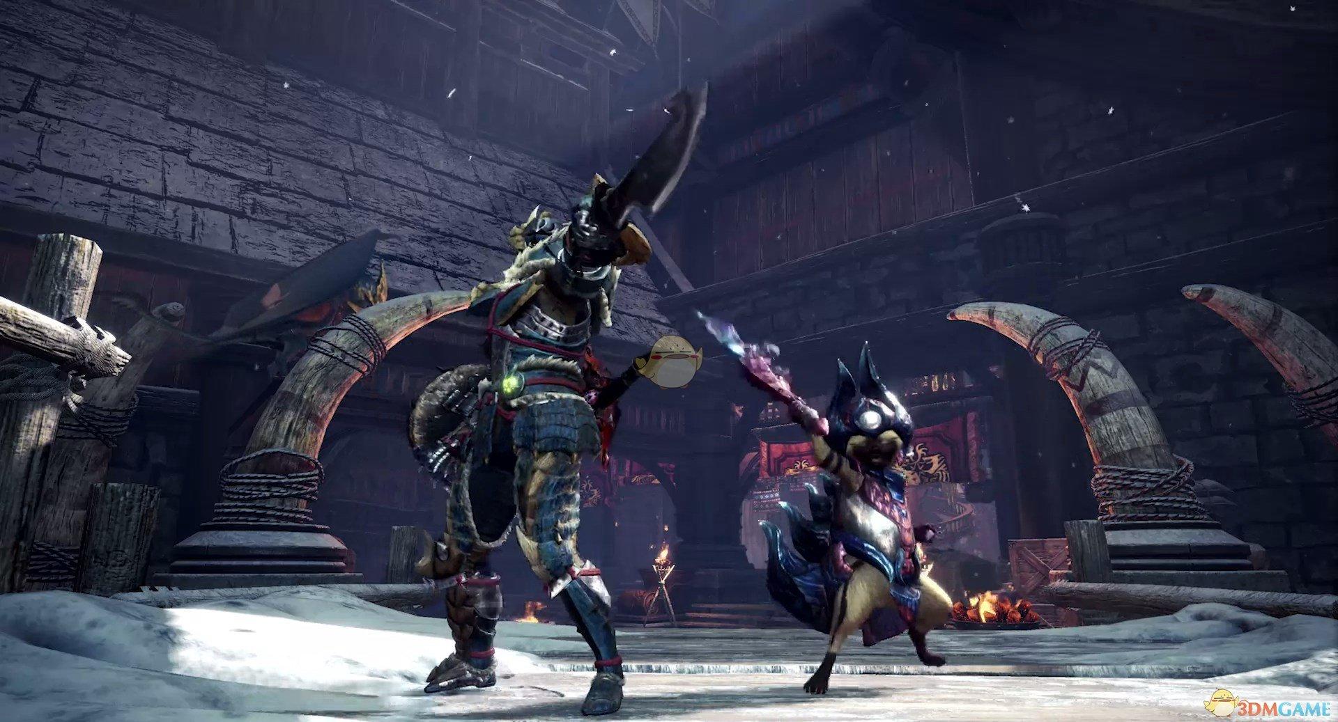 《怪物猎人:世界》冰原DLC剑斧斧形态后跳步使用方法分享