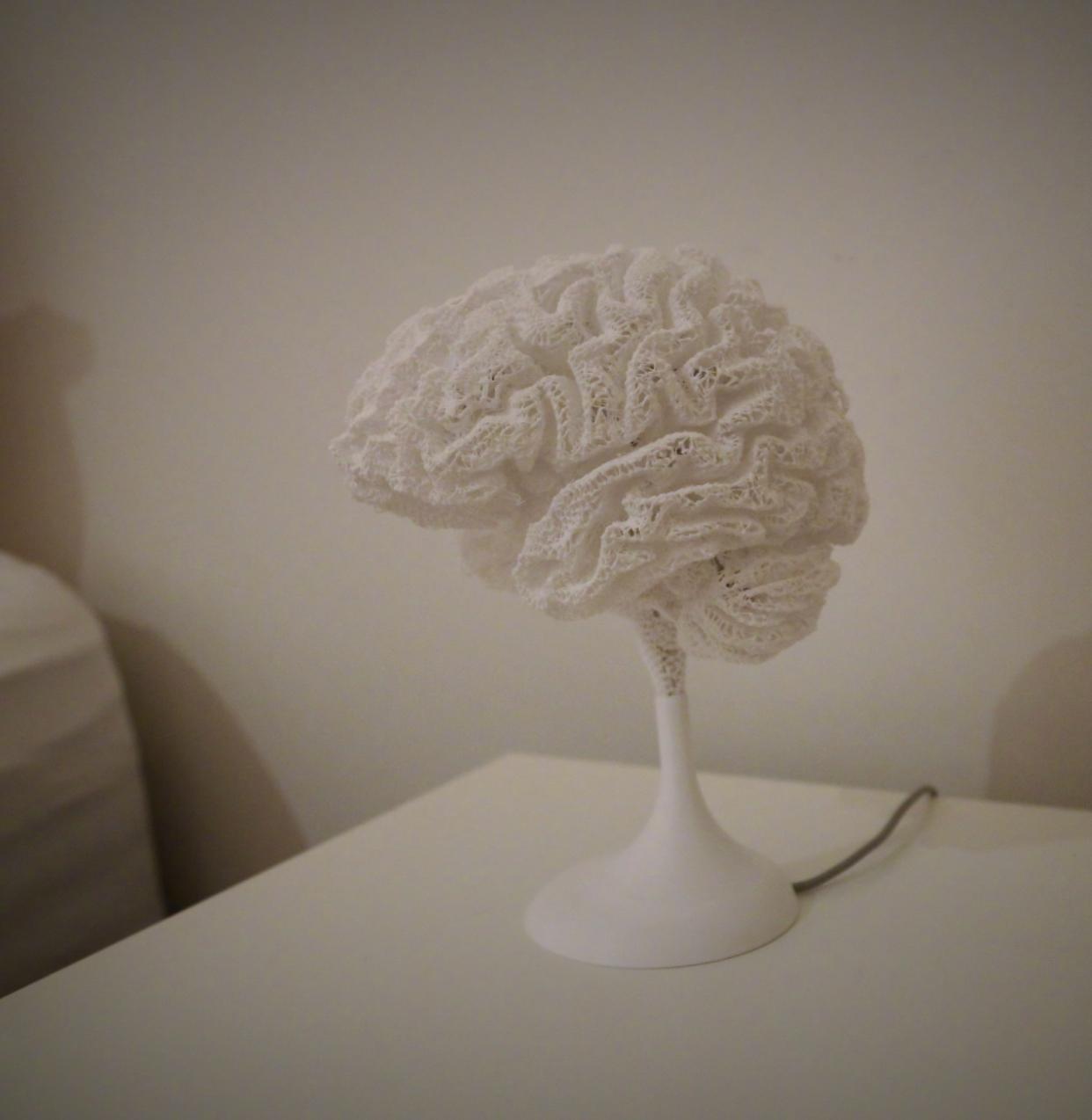 """半夜起床吓一跳!网友用3D打印把""""大脑""""搞成了台灯"""