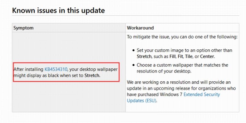 微软承认更新导致Windows7壁纸黑屏 普通用户惨了