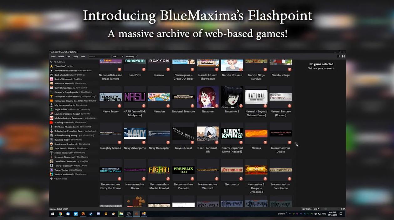 Flash即将退场 一个新项目保存了36000款小游戏