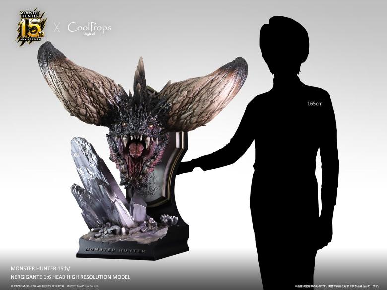 巨大沉重镇桌极品!《怪猎世界》15周年纪念版灭尽龙头雕像公开