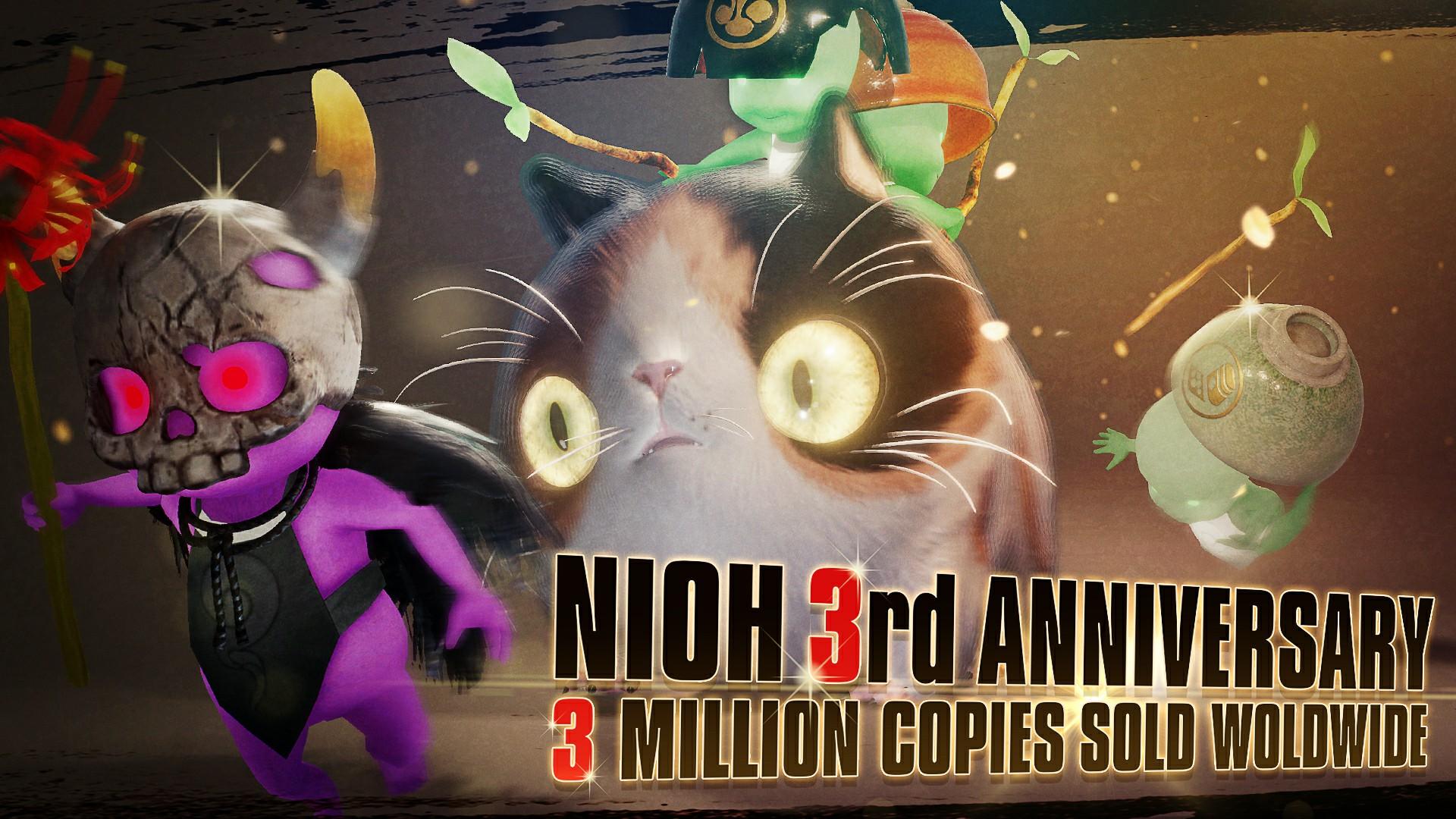 《仁王》发售三周年纪念 全球出货量突破300万份