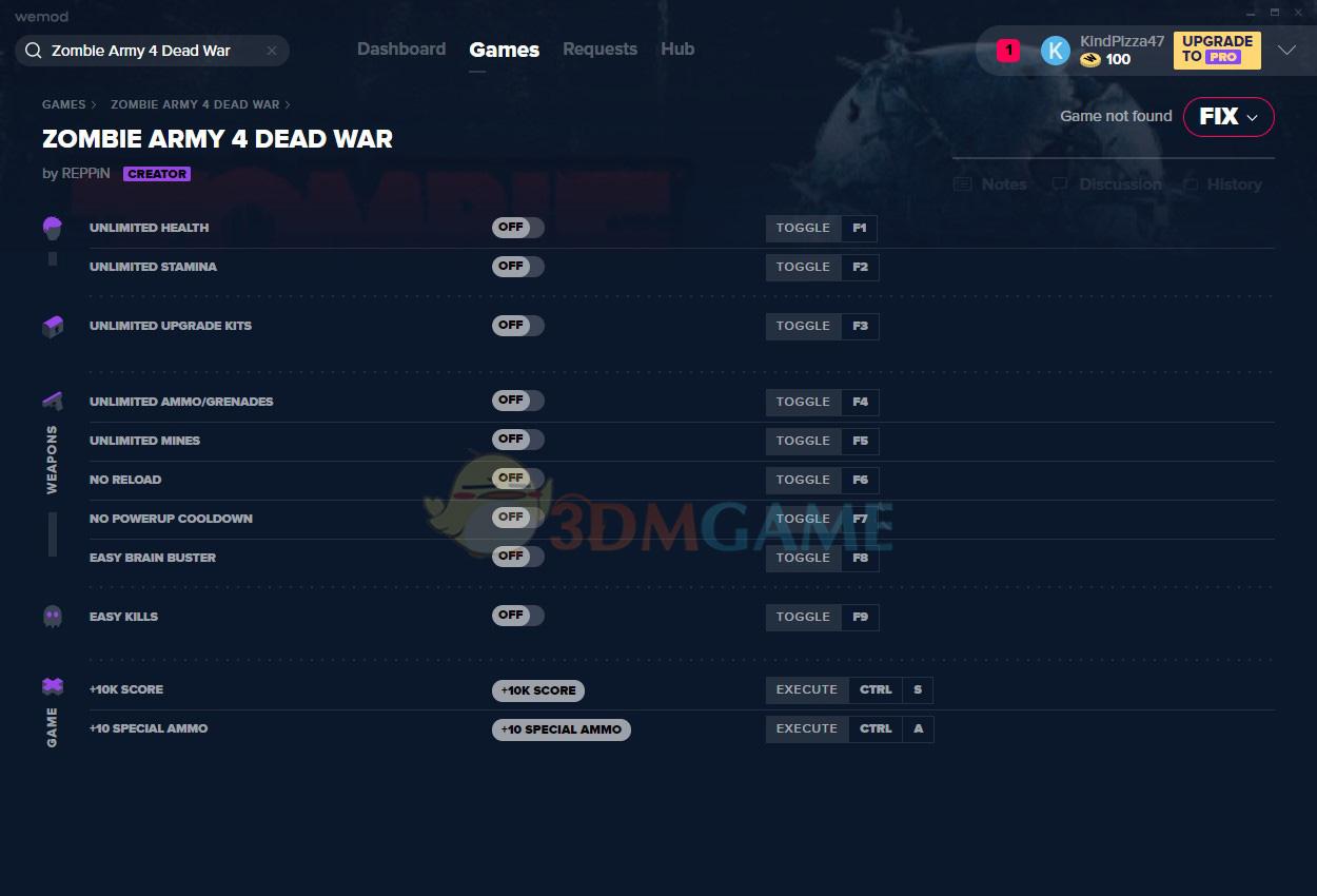 《僵尸部队4:死亡战争》v1.0十一项修改器[MrAntiFun][Epic]