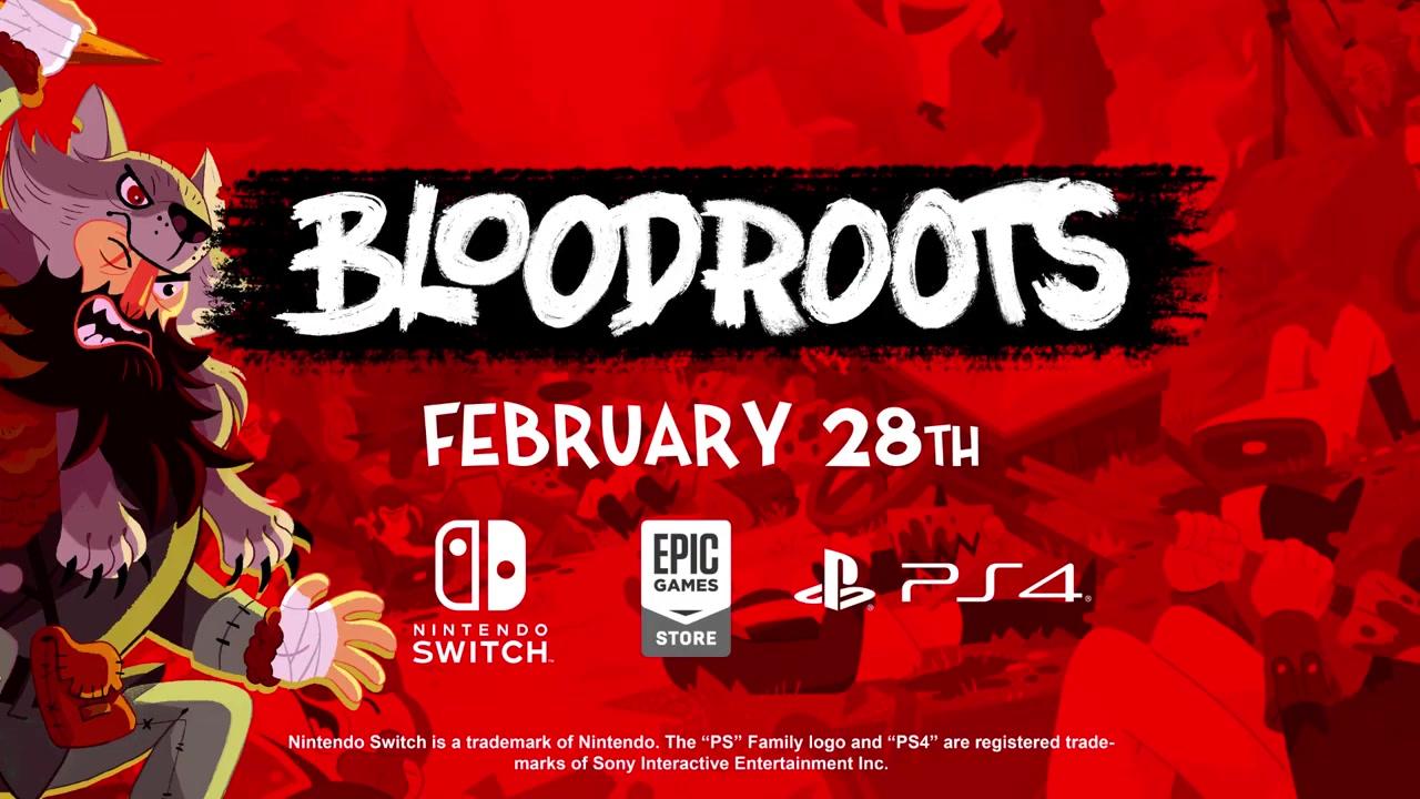 快节奏动作游戏《血根》2月28日登陆PS4/NS/PC