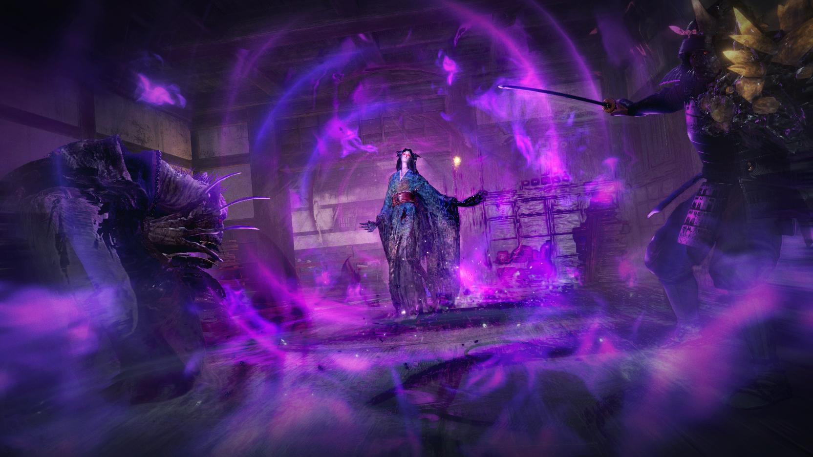 《仁王2》公布新妖怪技反木绵和姑获鸟 效果各有特色