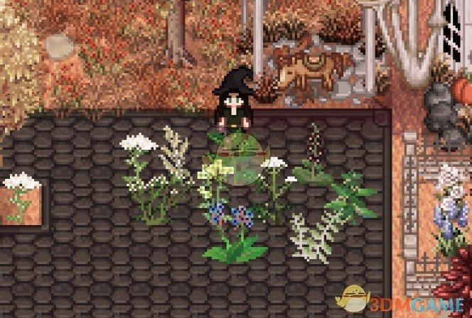 《星露谷物语》花园中的草药MOD