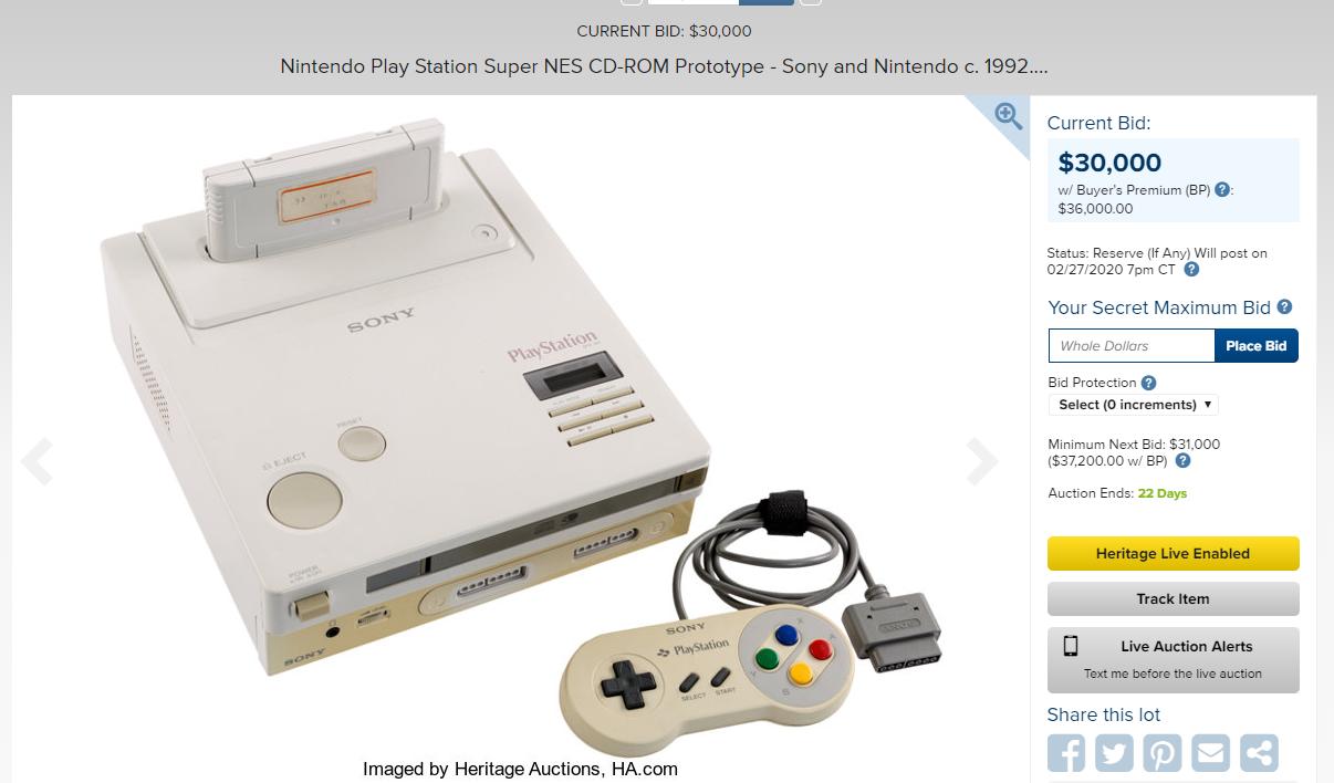 3w美金!全世界仅存的一台任天堂PlayStation投标开启