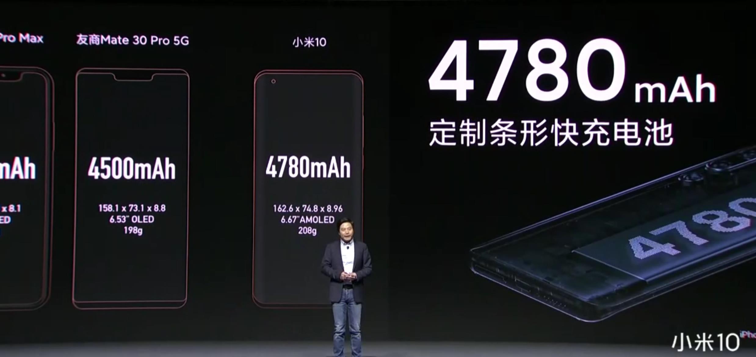 小米10正式亮相:6.67英寸小挖孔曲面屏 售價3999元起