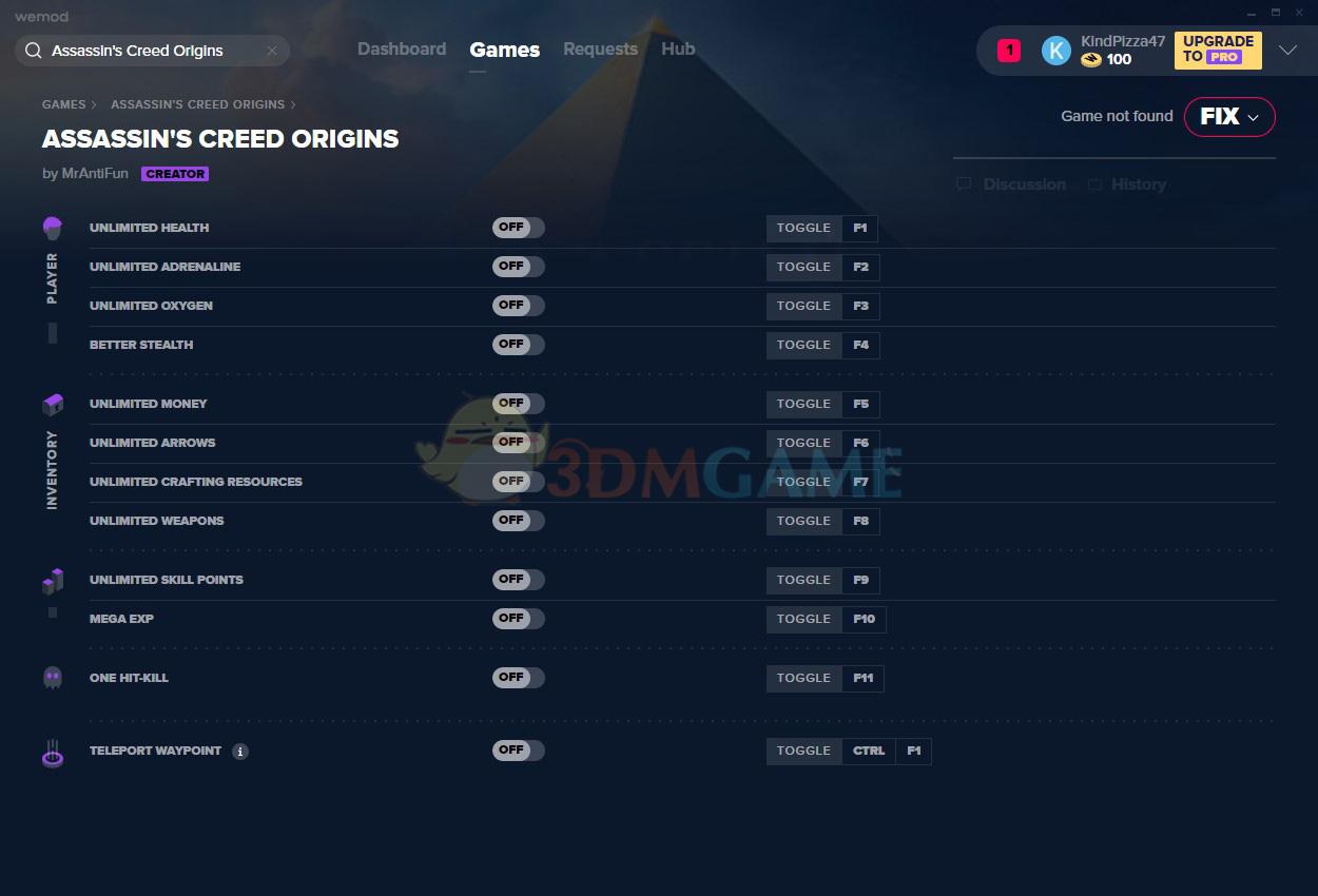 《刺客信条:起源》v2020.02.14十二项修改器[MrAntiFun][Steam]