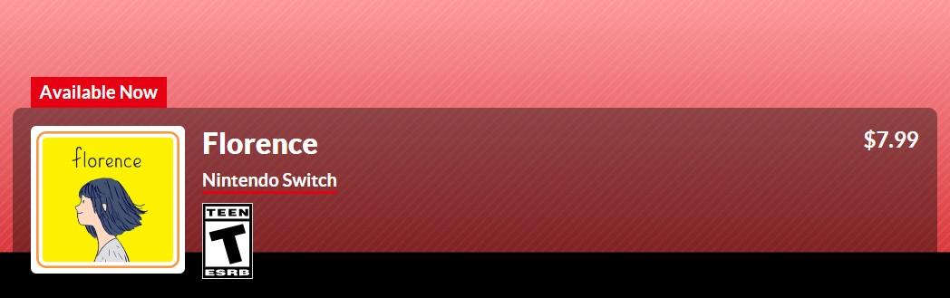 恋爱冒险《Florence》现已上架PC/NS Steam售价30元