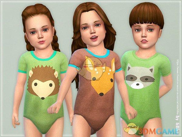 《模拟人生4》小孩动物印花睡衣MOD