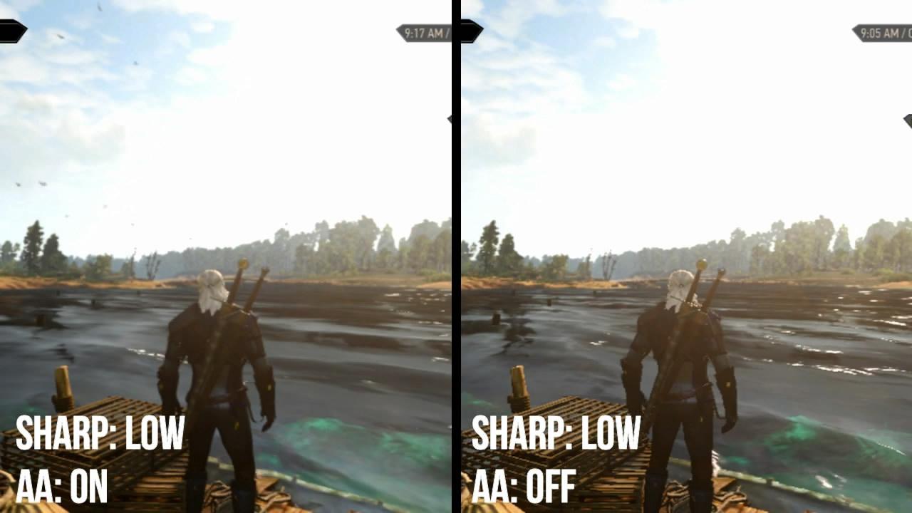 NS《巫师3》3.6更新画质提升 画面选项对比视频