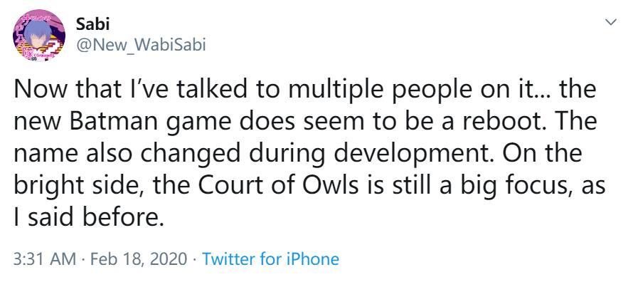 《蝙蝠侠》新作将以猫头鹰法庭为重点 新作LOGO泄露