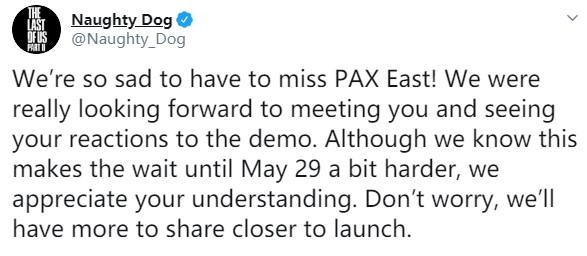 遗憾错过PAX!《最后生还者2》发售前将公开更多内容