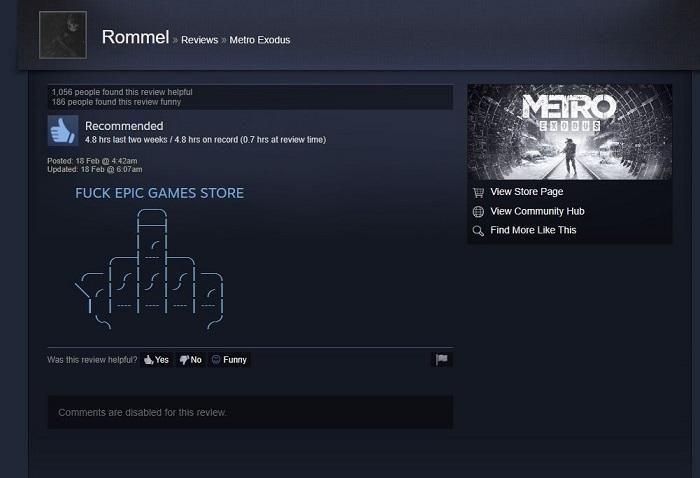 "谷歌搜索Steam惊现""F*** Epic Games Store"""
