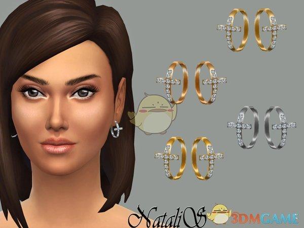 《模拟人生4》十字架钻石耳环MOD