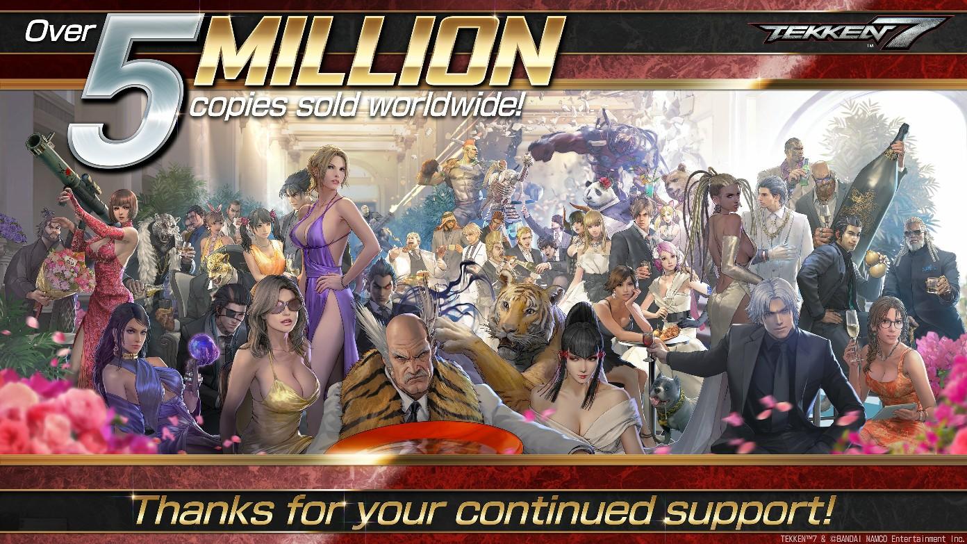原田胜弘发布《铁拳7》500万销量贺图 系列累计销量突破4900万