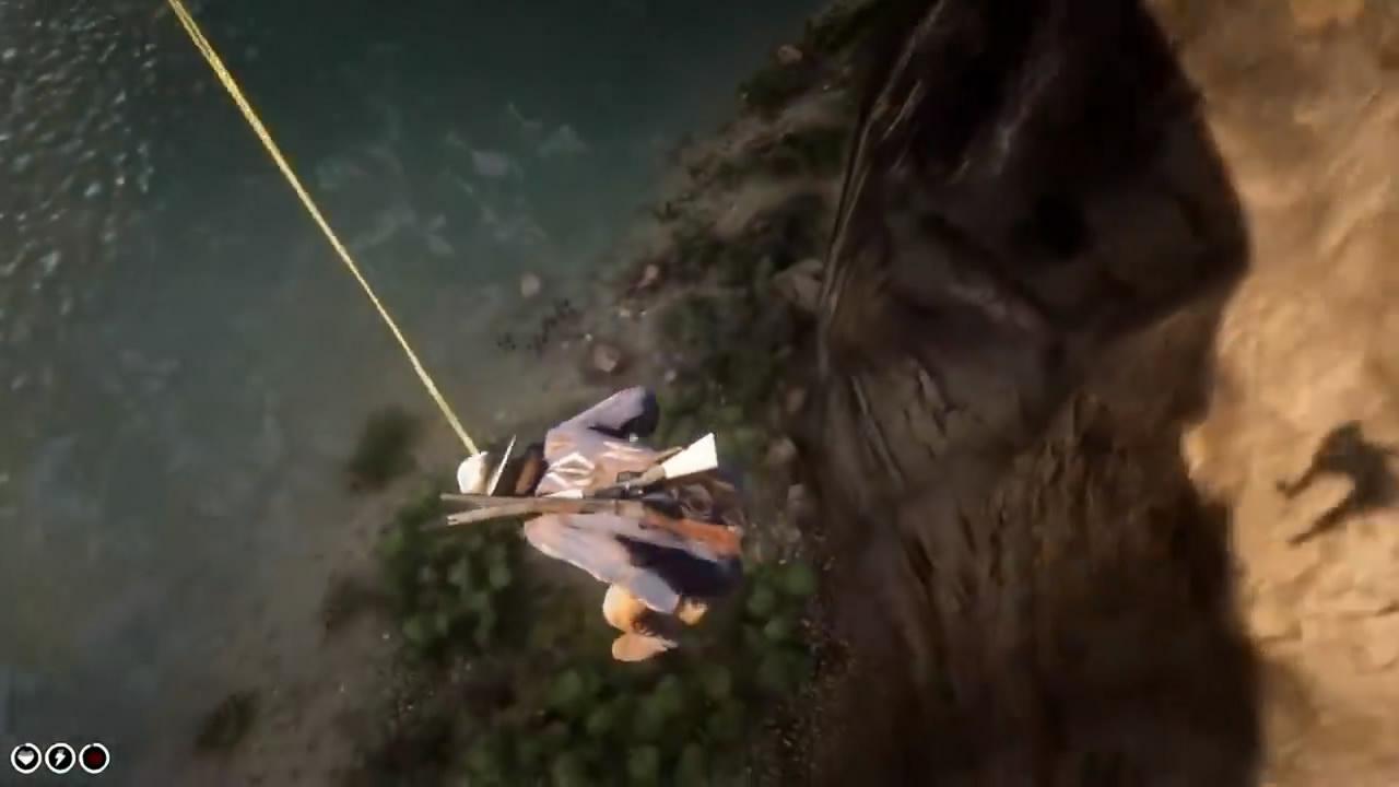 《荒野大镖客2》呕吐竟可免坠伤 神奇操作让人惊叹