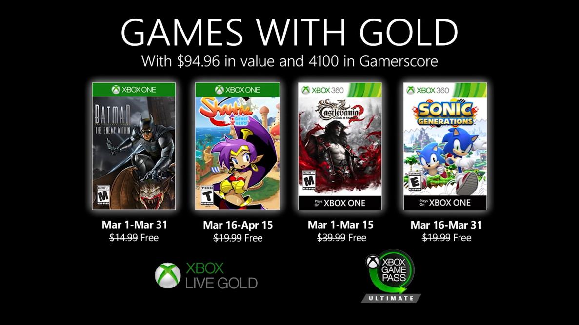 Xbox金会员3月会免公开:《蝙蝠侠:内敌》《桑塔》